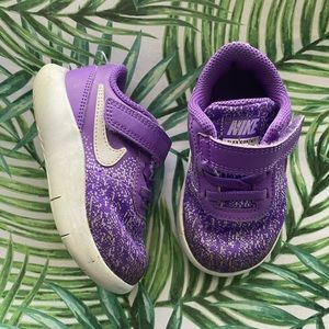 Nike Purple Toddler Velcro Sneakers